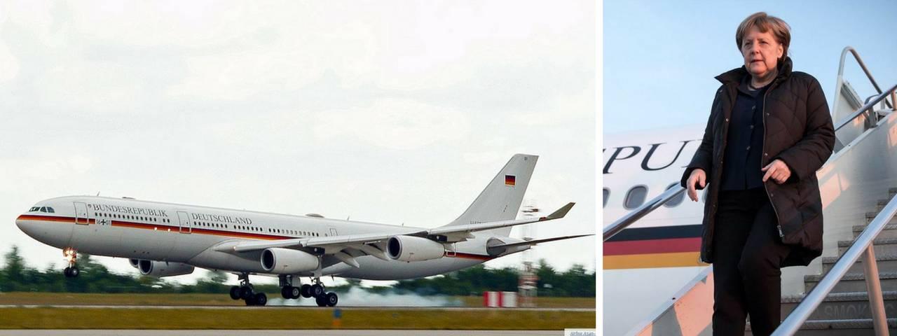 Un Airbus A340 modificado sirve como transporte del gobierno de Alemania, encabezado por la canciller Angela Merkel.
