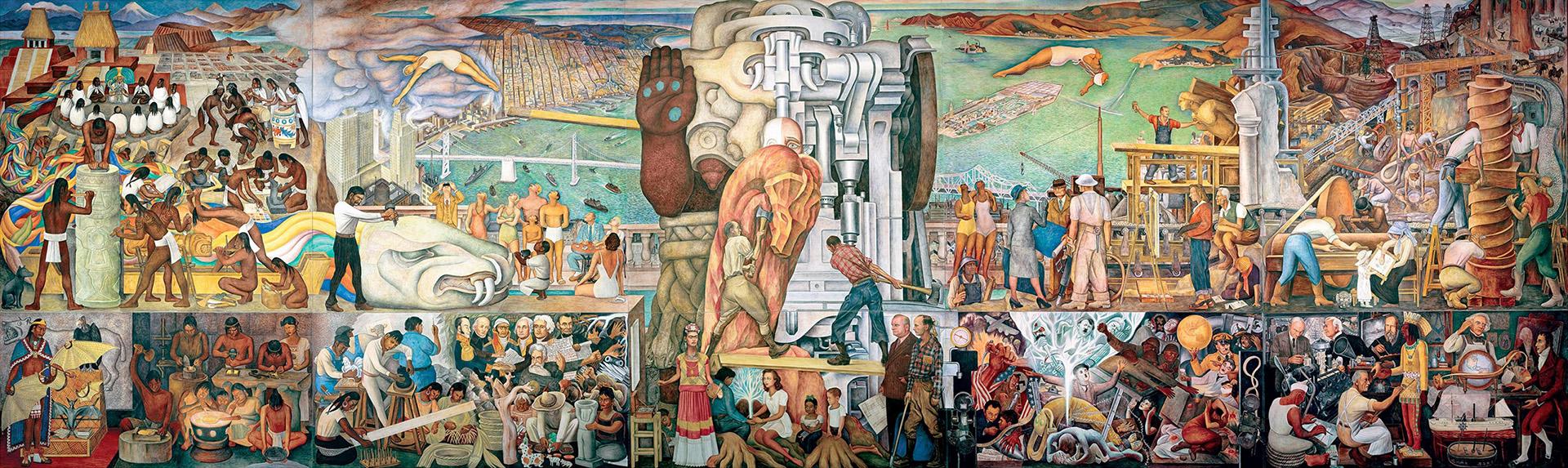 """""""Unidad Panamericana"""", de Diego Rivera"""