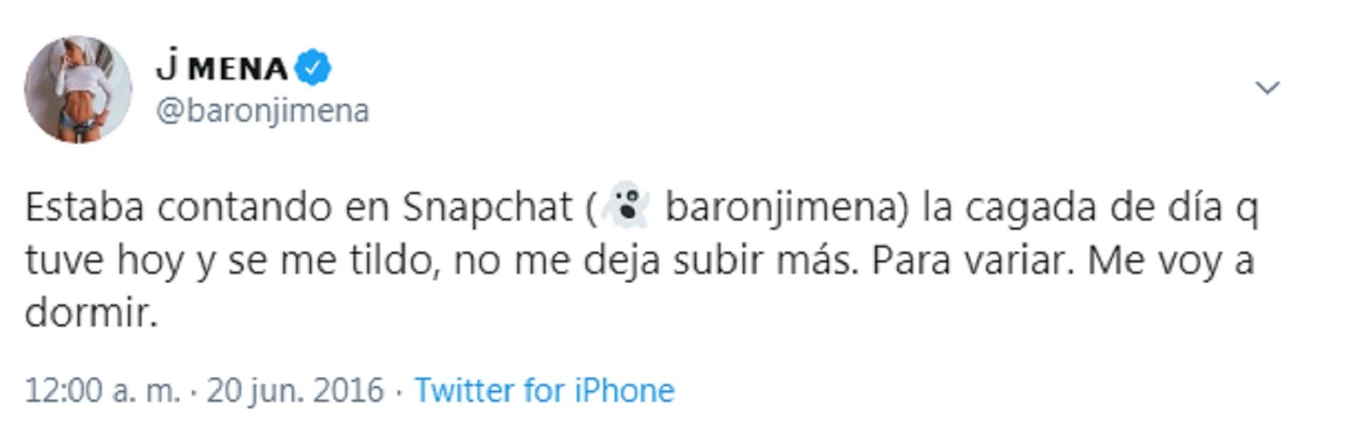 El mensaje de Jimena Barón en 2016 cuando era una usuaria activa de Snapchat
