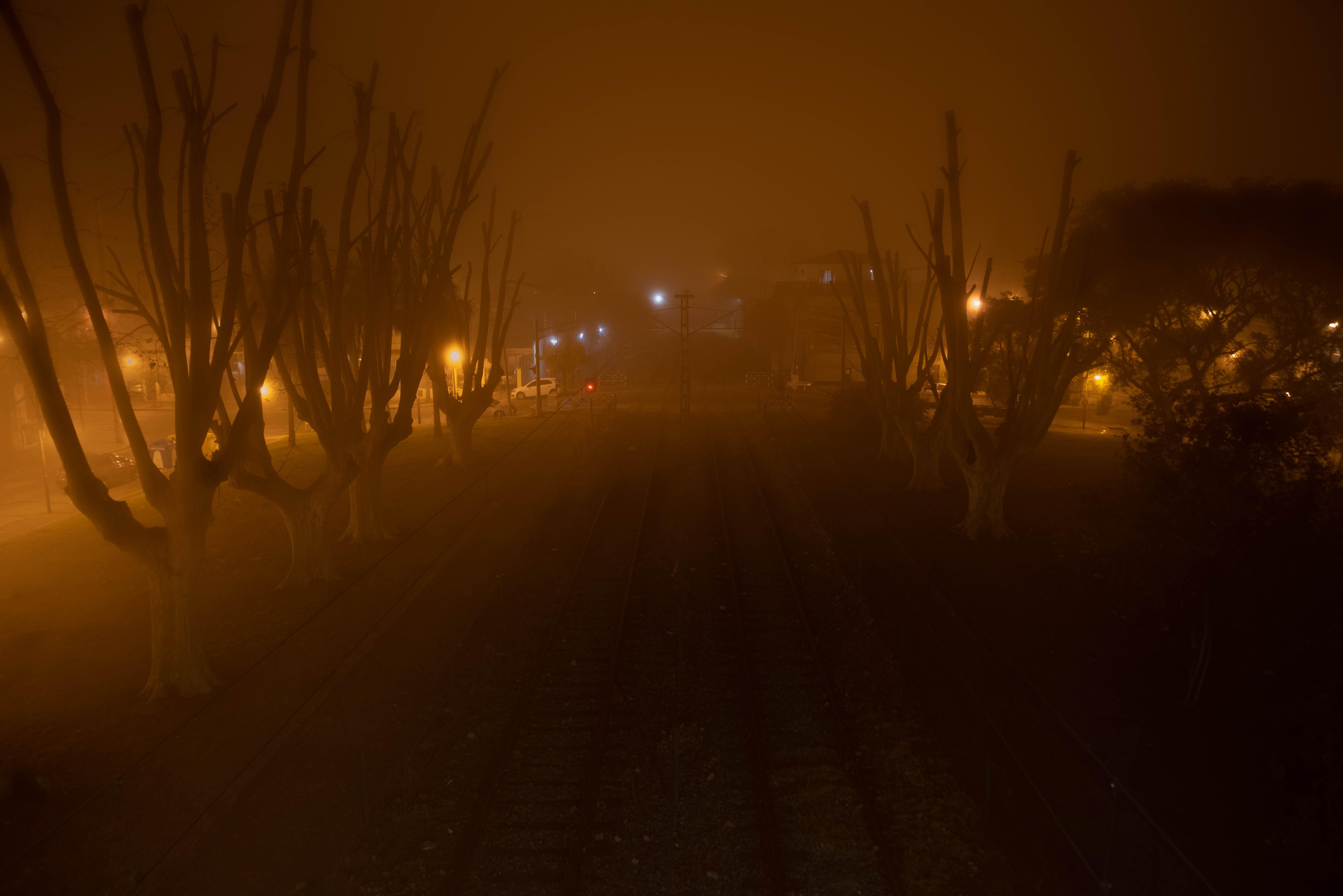 Fotos de la neblina se replicaron en las redes sociales