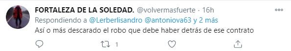 Crítica de un usuario de Twitter respecto a las precarias ayudas entregadas por el gobierno, a los campesinos de la Sierra Nevada de Santa Marta. Foto: Twitter Fortaleza de la Soledad.