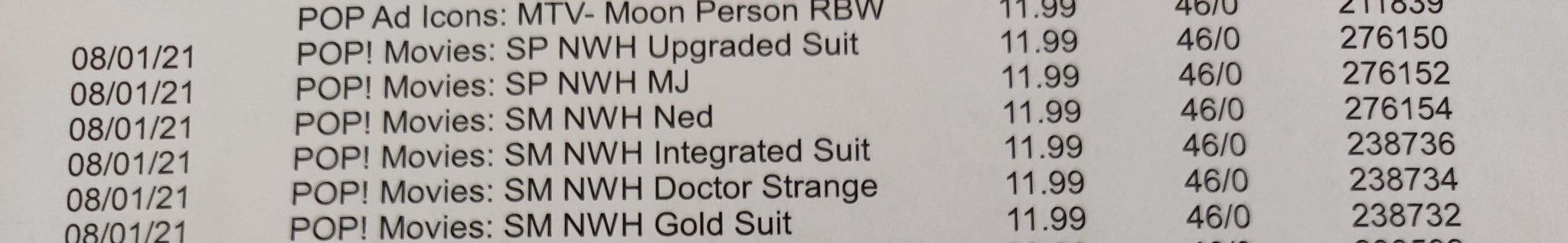 The listing says there will be three different Spider-Man costumes (Image: Twitter/@casualCosplayin)