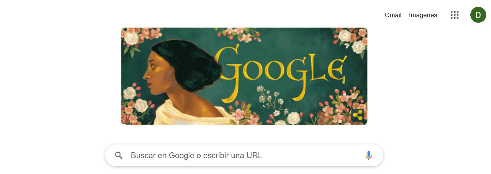 El doodle de Google homenajea a Fanny Eaton