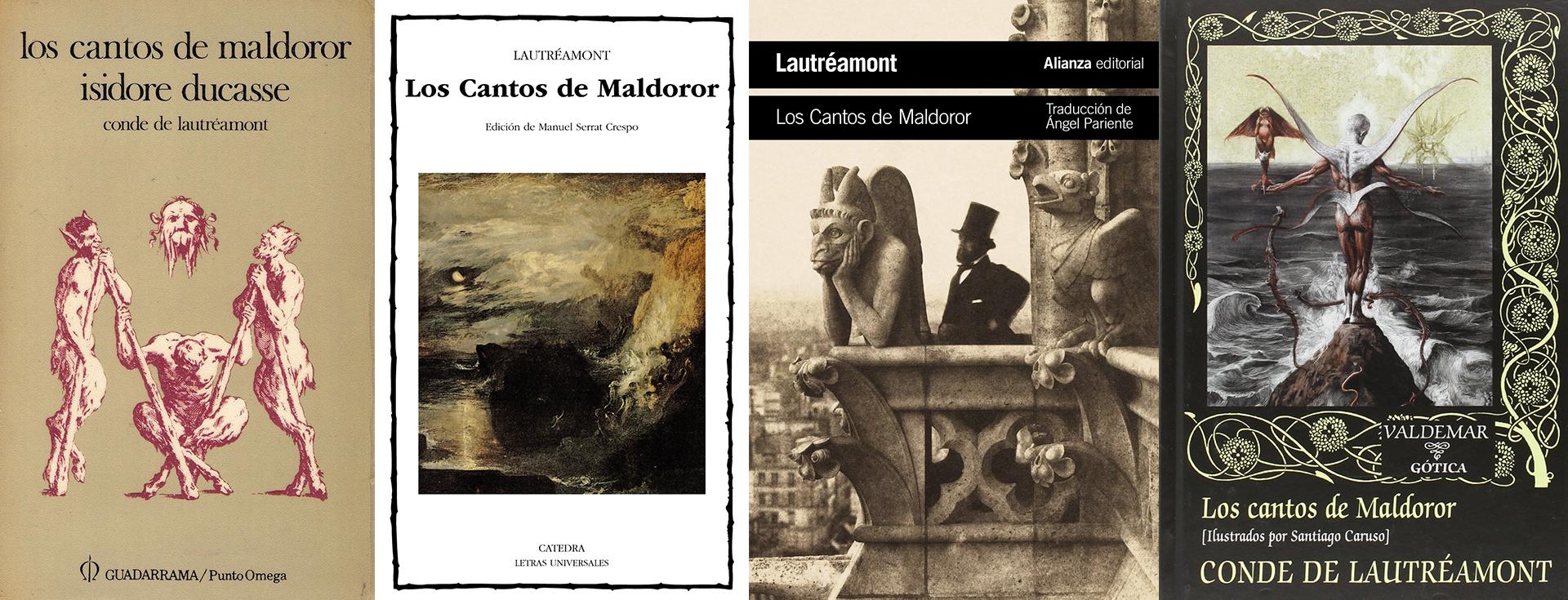 """""""Los cantos de Maldoror"""" en diferentes publicaciones en español"""