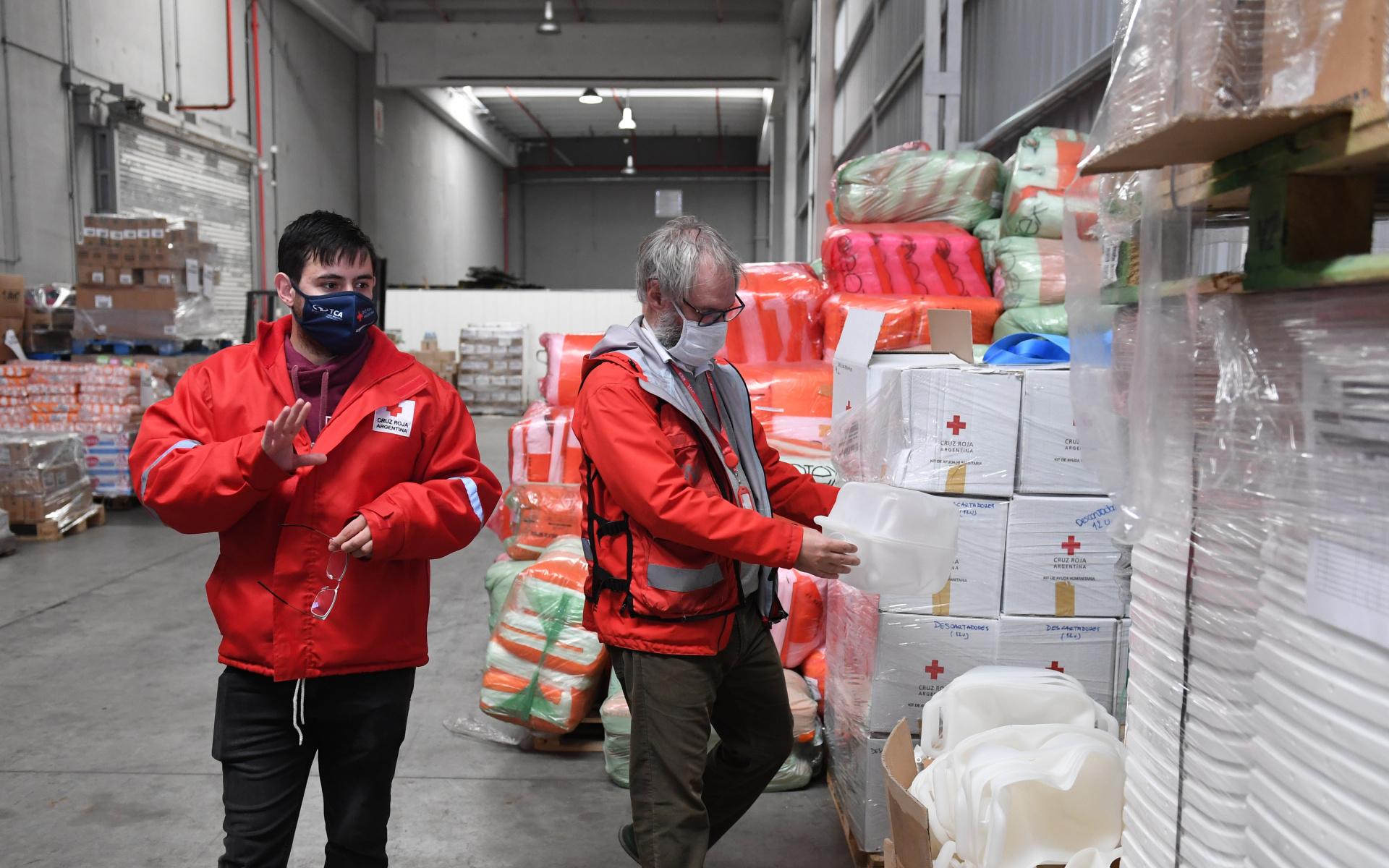 Este es uno de los espacios de almacenajes cedidos a Cruz Roja