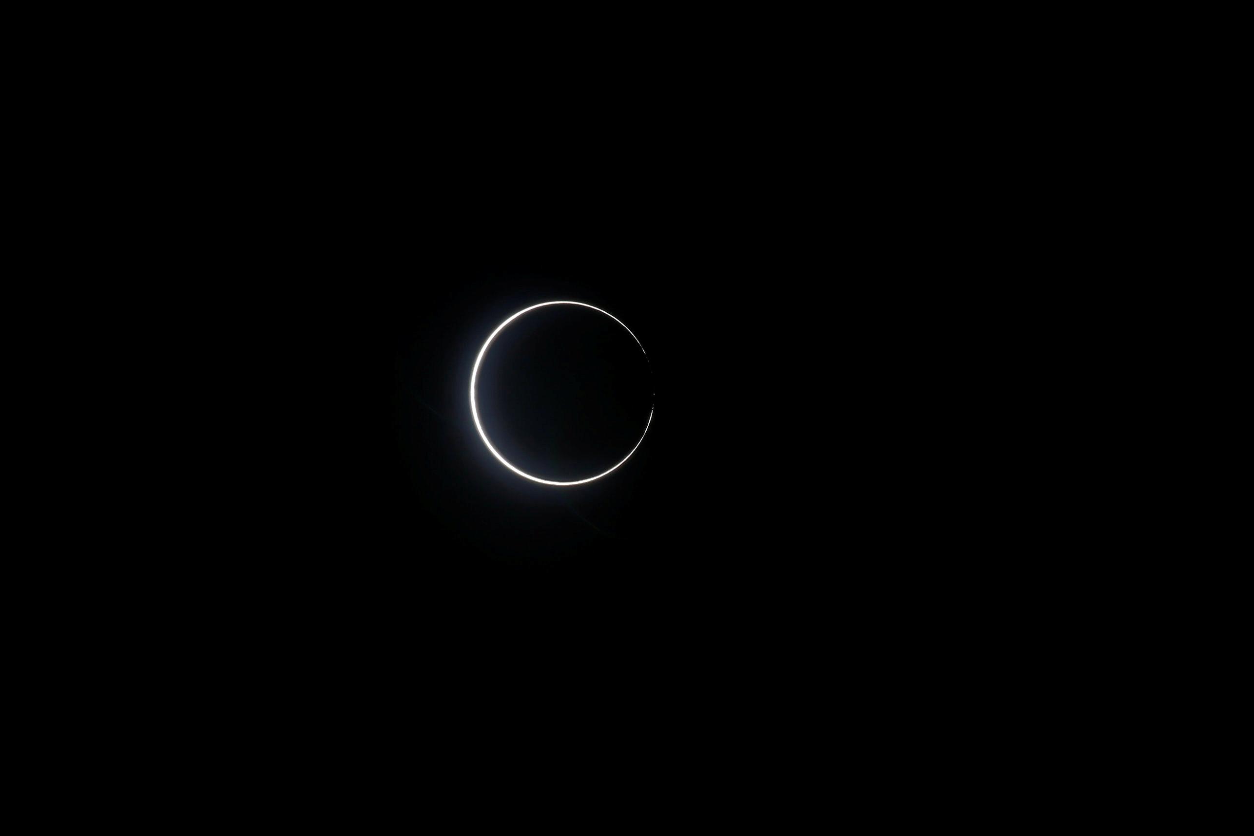 El eclipse casi total, desde Taiwán
