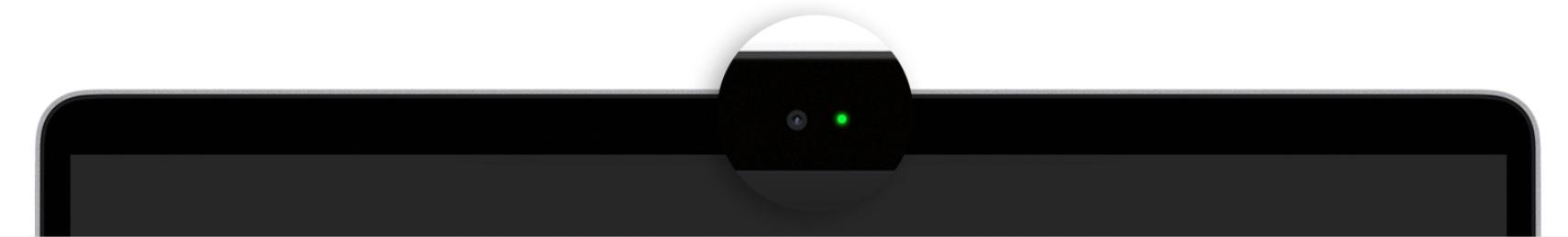 El indicador luminoso se pone de color verde cuando la cámara está activa.