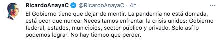 """Le PAN a assuré que la pandémie COVID19 """"c'est pire que jamais"""" (Photo: Twitter)"""