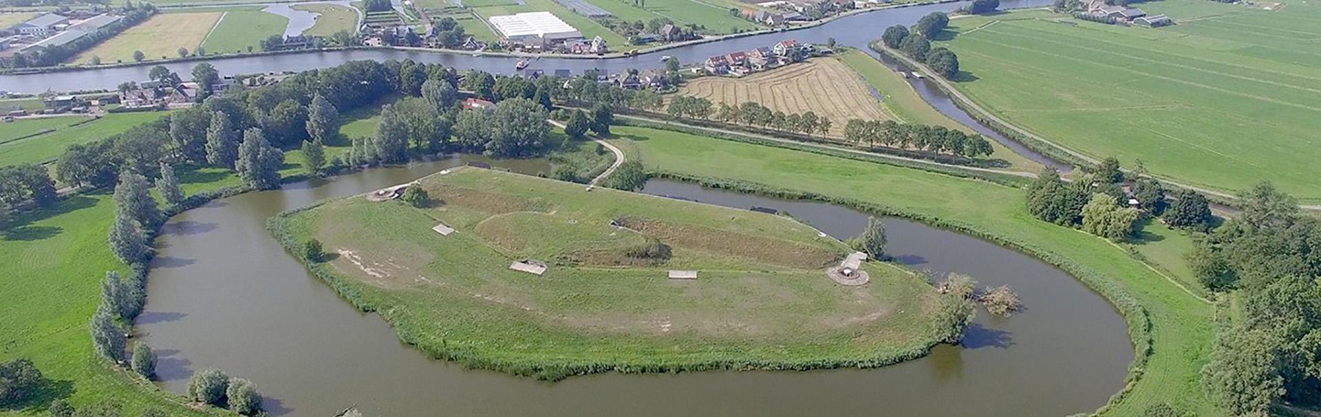 La extensión de las Líneas de defensa de Ámsterdam (Países Bajos)