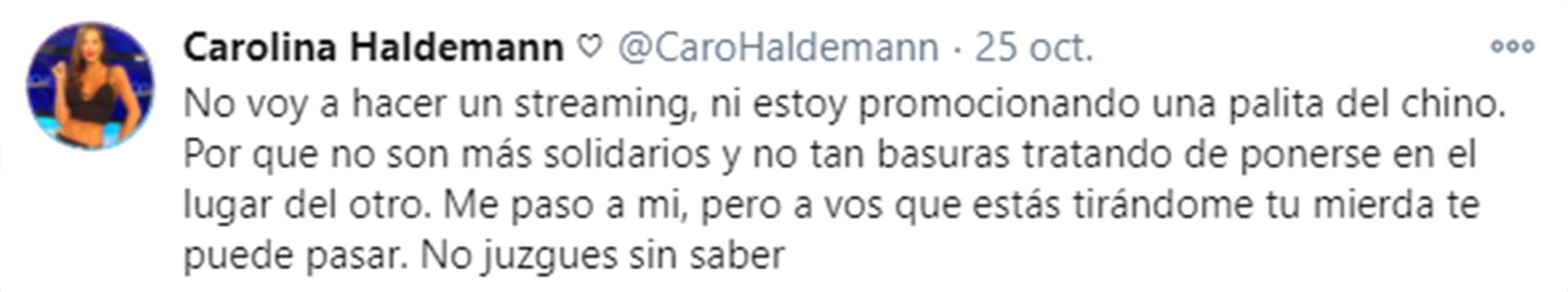 Los tuits de Carolina Haldemann