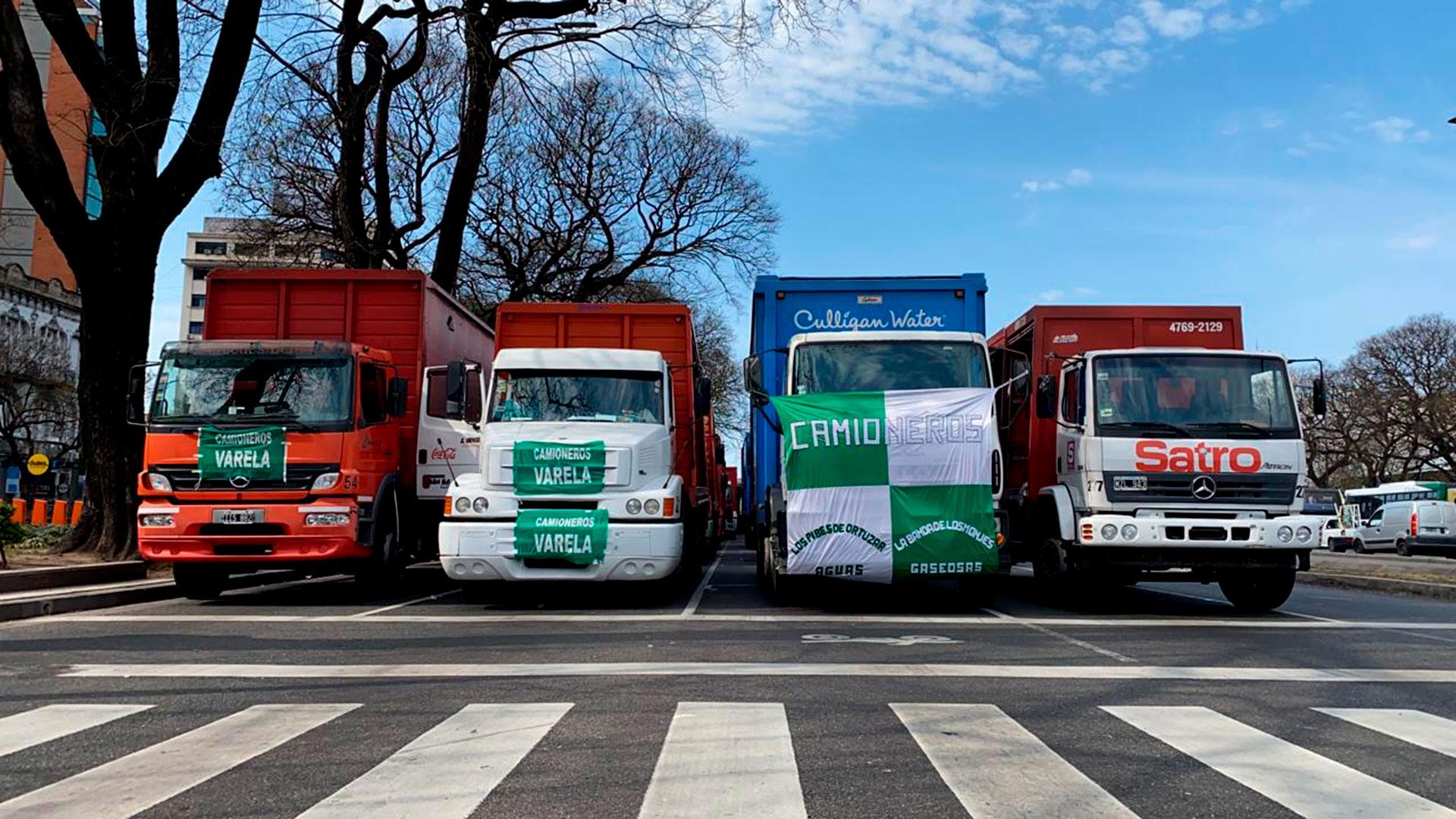 Los trabajadores que manejan camiones repartidores de bebidas fueron uno de los sectores más convocantes y activos de la caravana