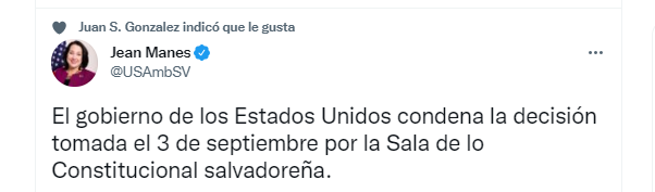 News released by a North American official in El Salvador