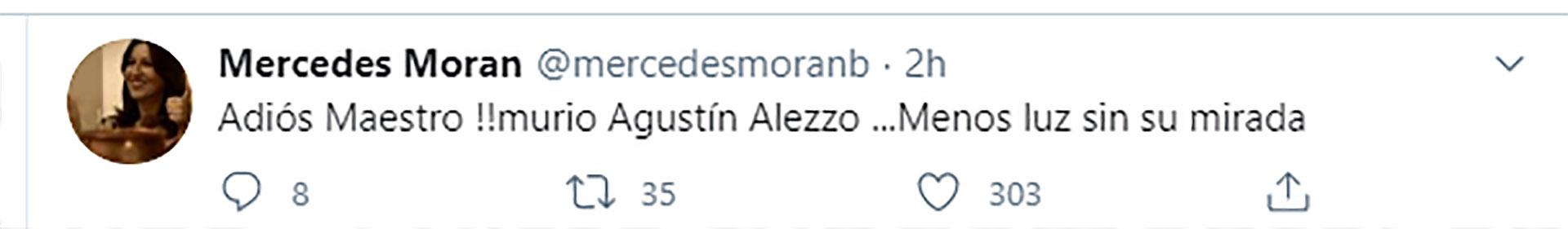 El tuit de Mercedes Morán