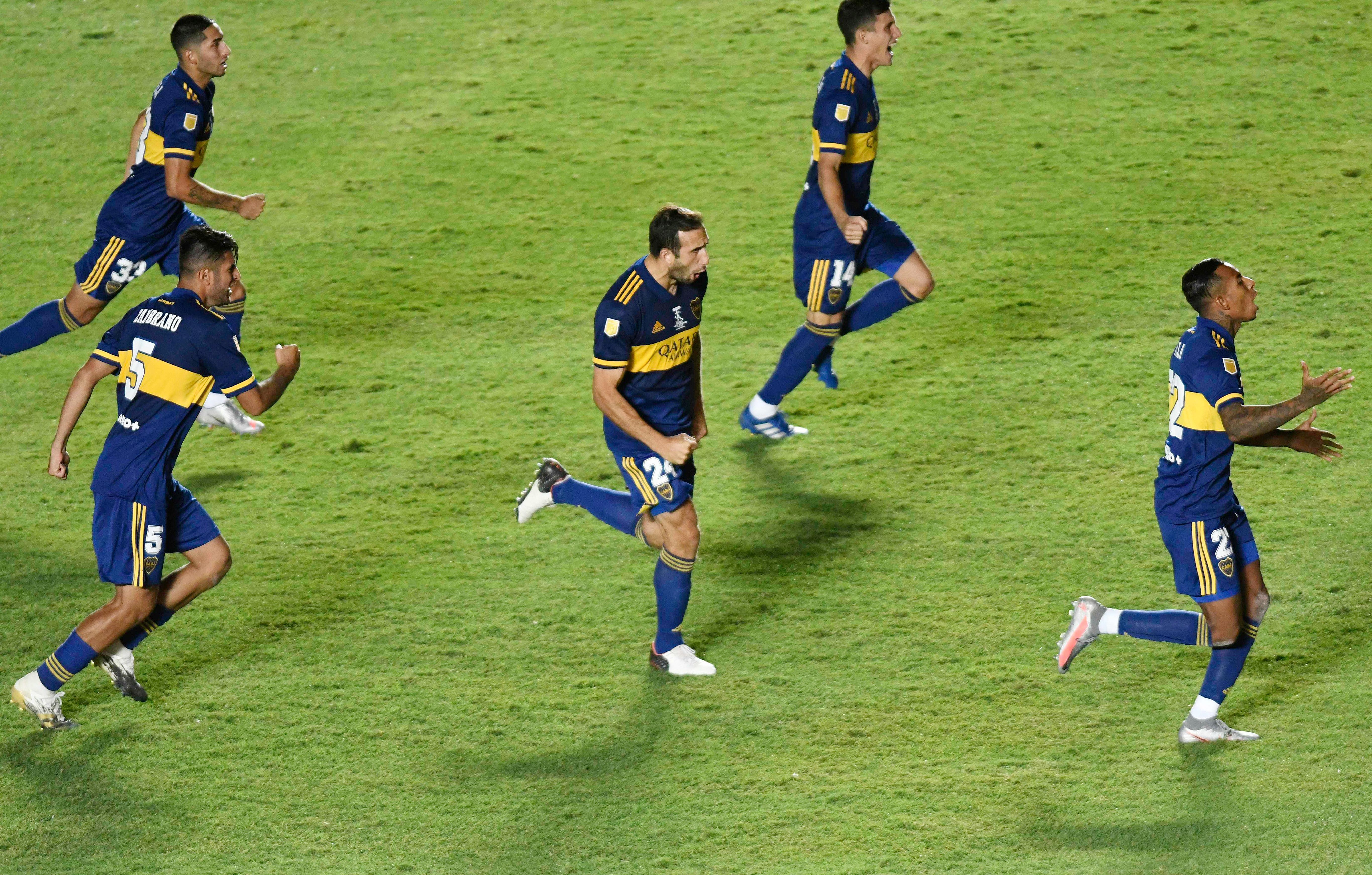 El momento en el que Boca se consagra campeón en los penales ante Banfield. La Copa Diego Maradona va rumbo a las vitrinas del Xeneize