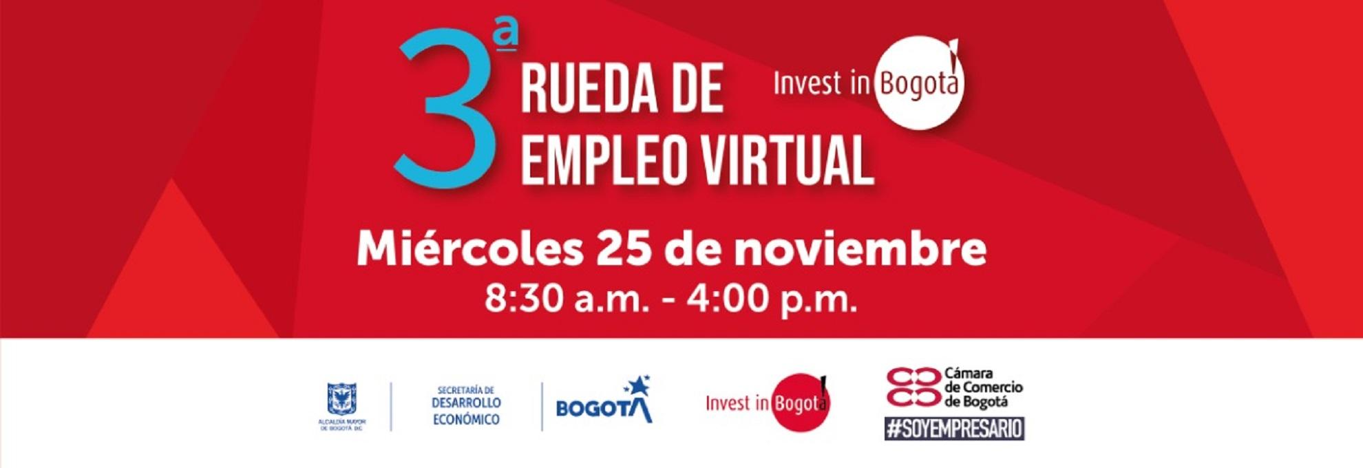 Más de 1.500 vacantes se presentarán en la tercera rueda virtual de empleo para la capital y otras regiones en el país. Foto: cortesía: Invest In Bogotá