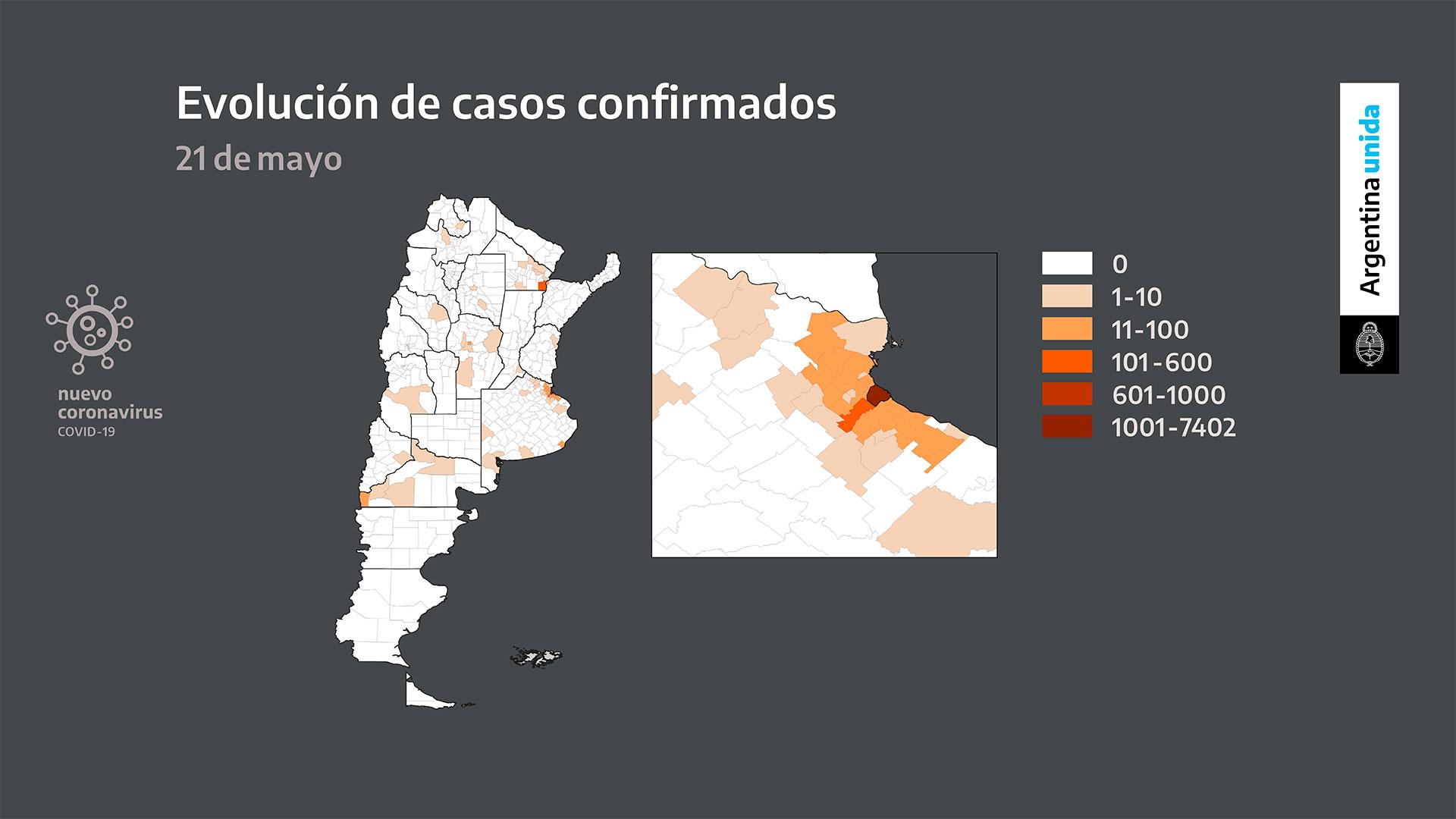 Los casos confirmados se concentran en el AMBA, Chaco y Río Negro