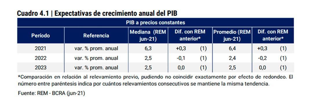 El promedio de las proyecciones relevadas por el Banco Central en el REM marca una suba de 2,4% del PBI en 2022; el gobierno, espera el doble
