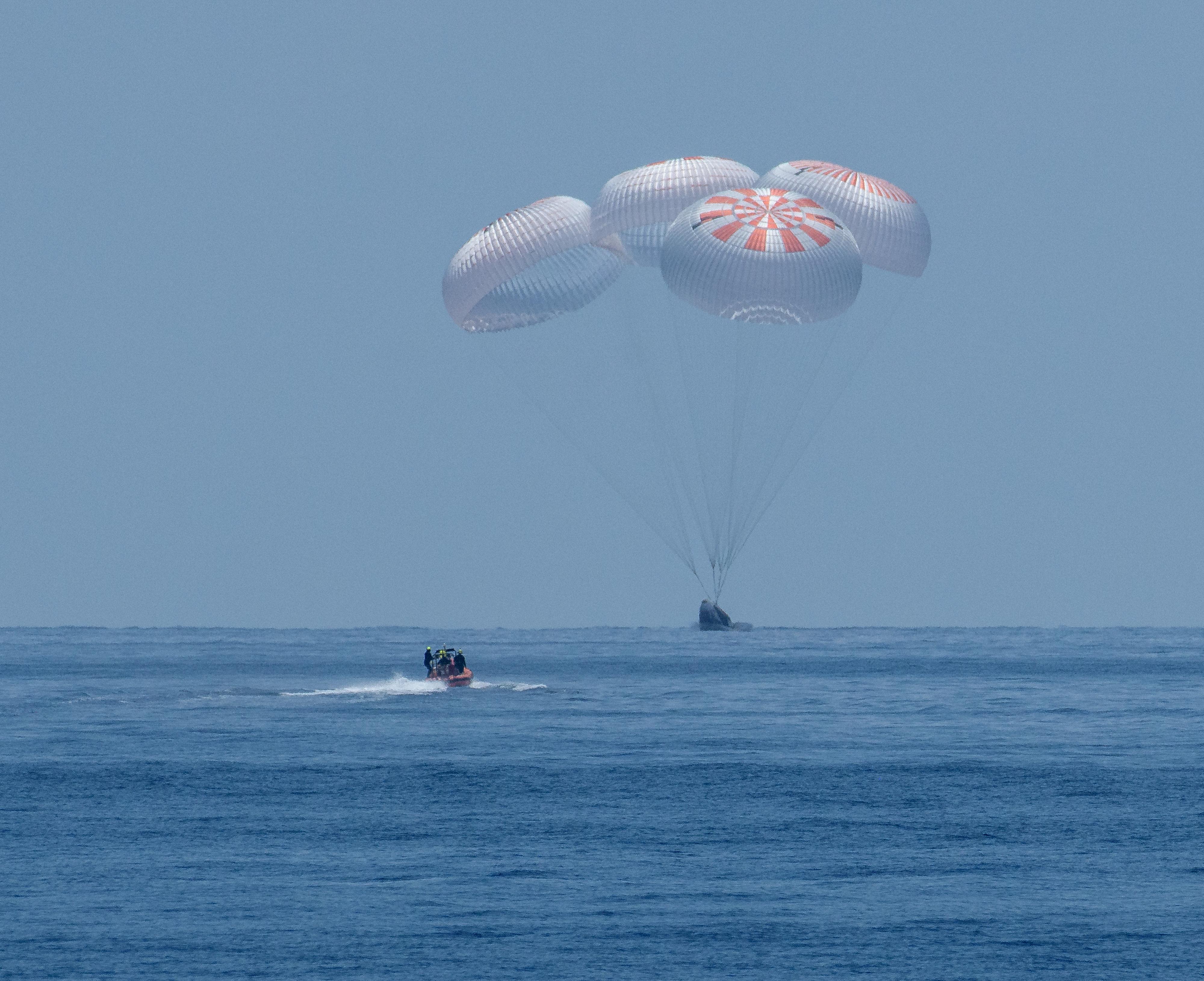 El viaje de regreso a Tierra duró 19 horas (NASA/Bill Ingalls/Handout via REUTERS)