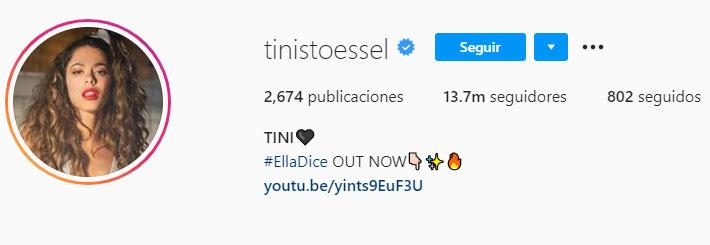 Tini Stoessel (Foto: Instagram)