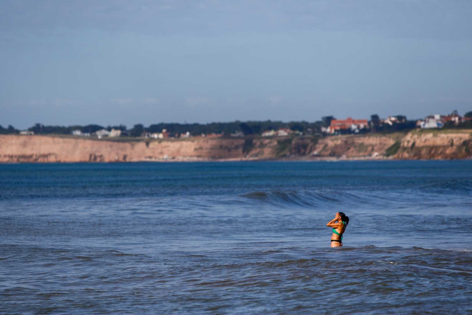 Los días también beneficiaron al turismo en cuanto a la posibilidad de bañarse en el mar, el cual se mantuvo calmo y sin complicaciones