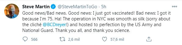 El mensaje de Steve Martin