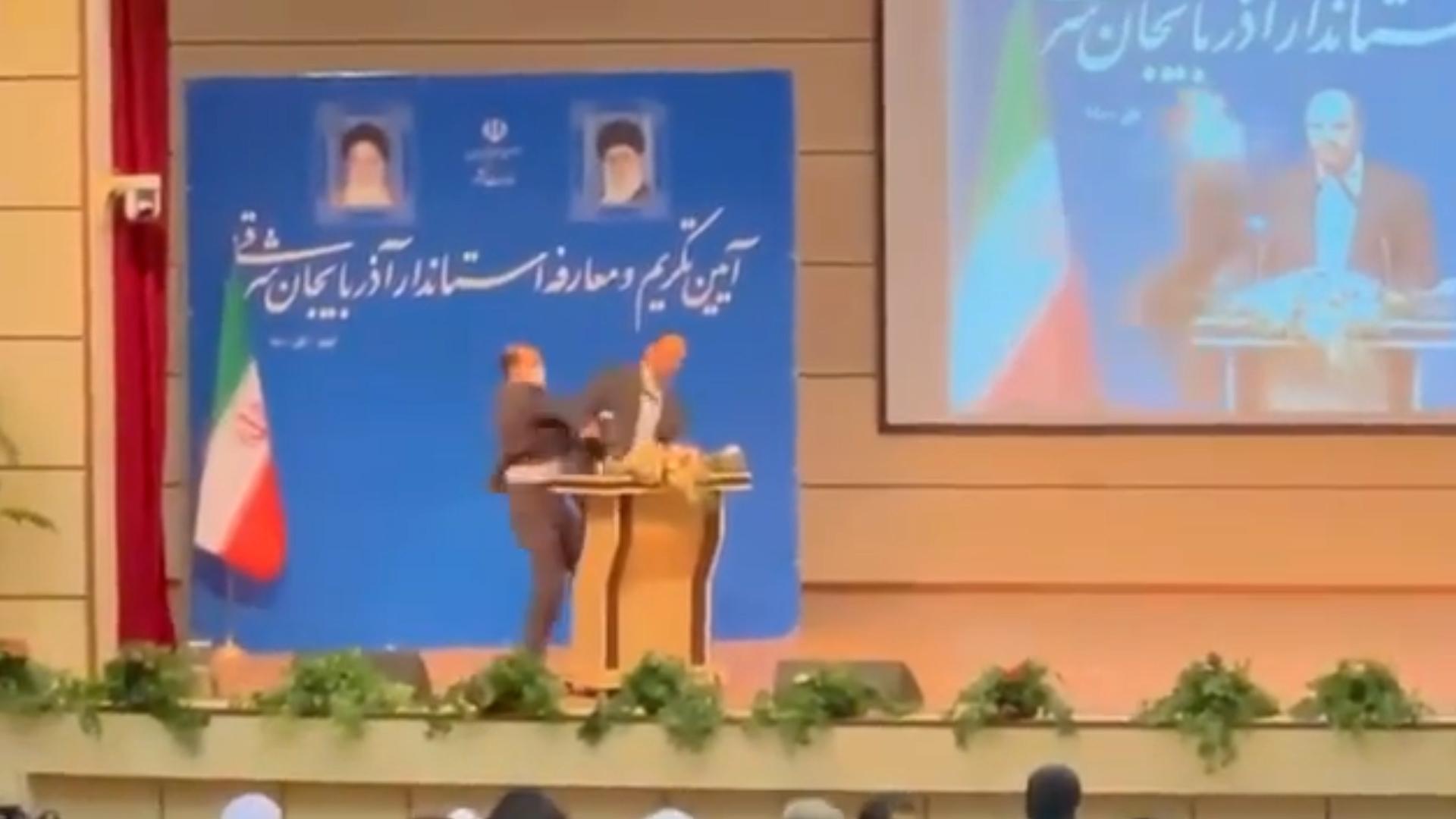 Un general de la Guardia Revolucionaria de Irán fue abofeteado cuando  tomaba posesión como gobernador - Infobae