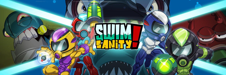 Swimsanity! propone un modo cooperativo de hasta cuatro jugadores
