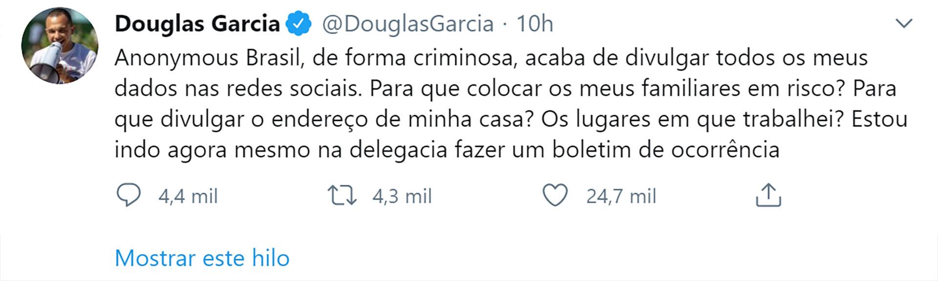 La denuncia de Douglas García