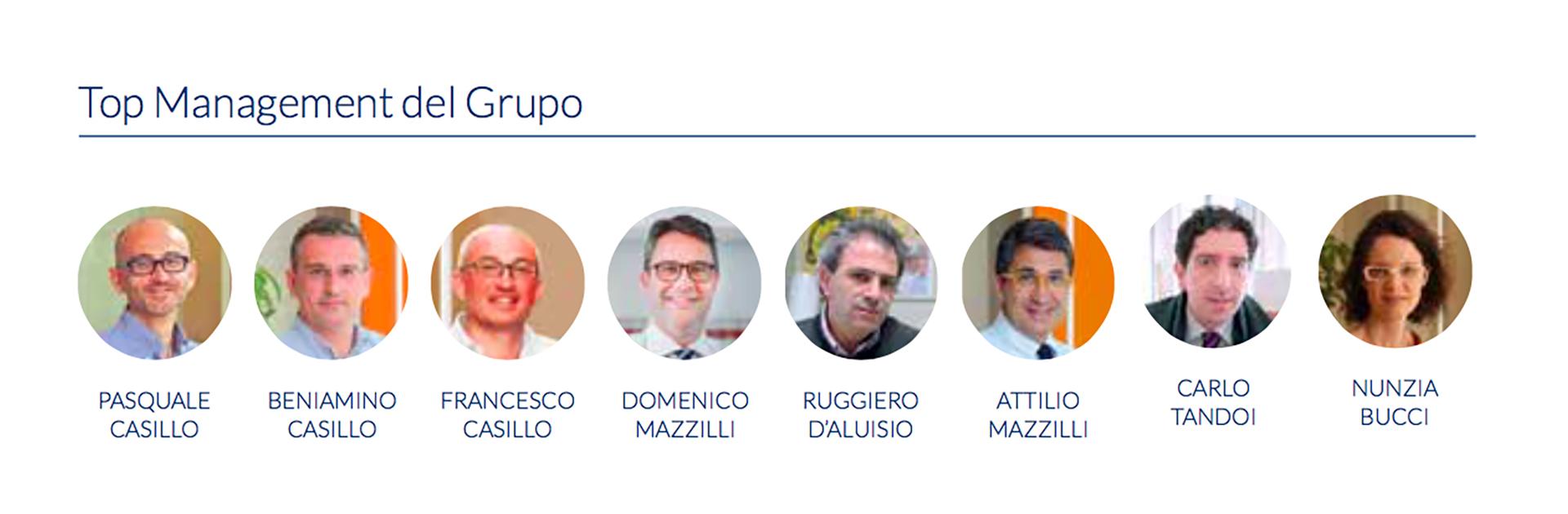 Los directivos de la empresa italiana Casillo.