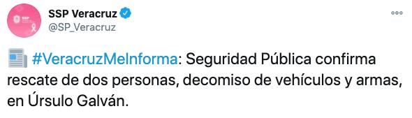 (Foto: Twitter/SP_Veracruz)