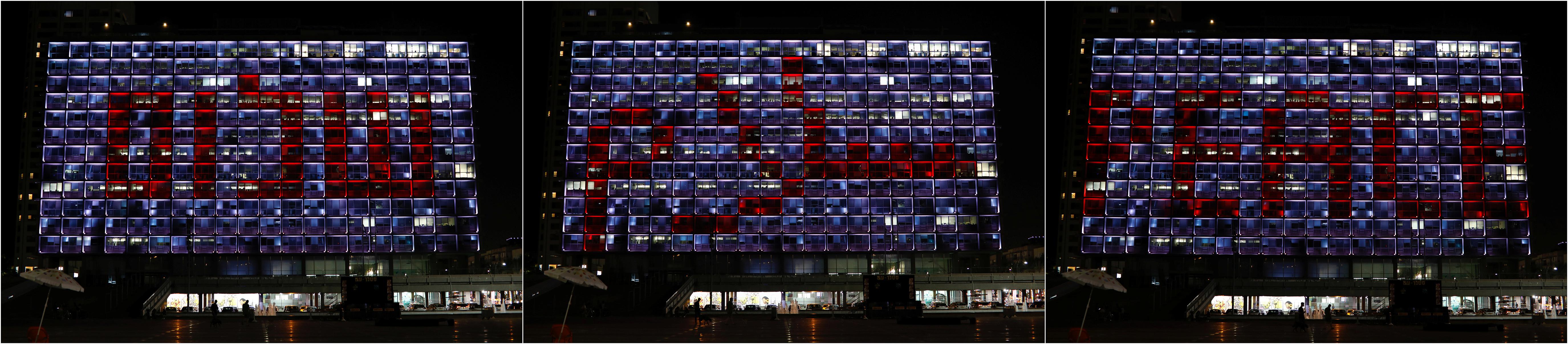 El edificio de la municipalidad de Tel Aviv. Foto: REUTERS/Nir Elias