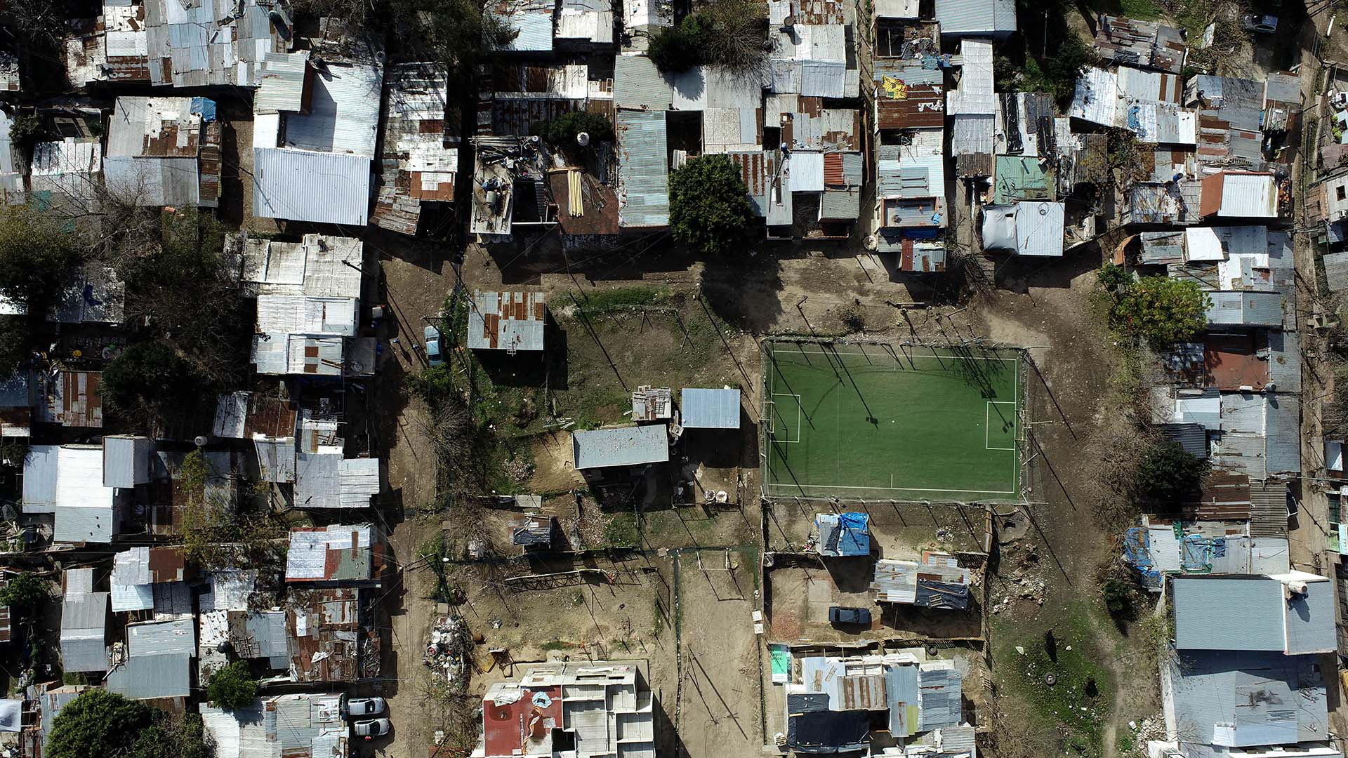 Villa Azul desde el drone de Infobae