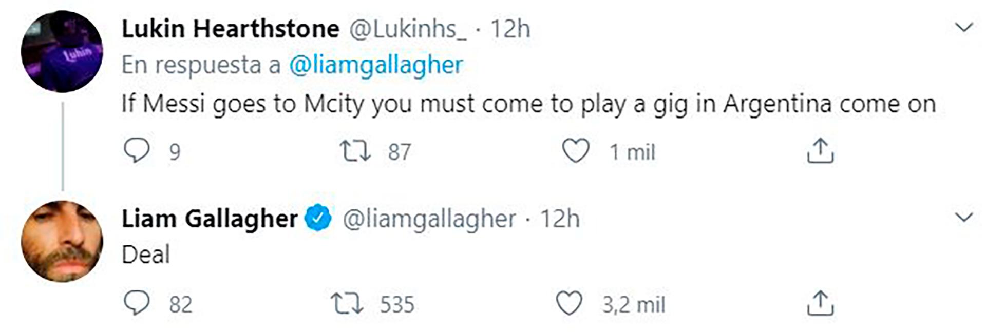 La promesa de Liam Gallagher a un seguidor argentino