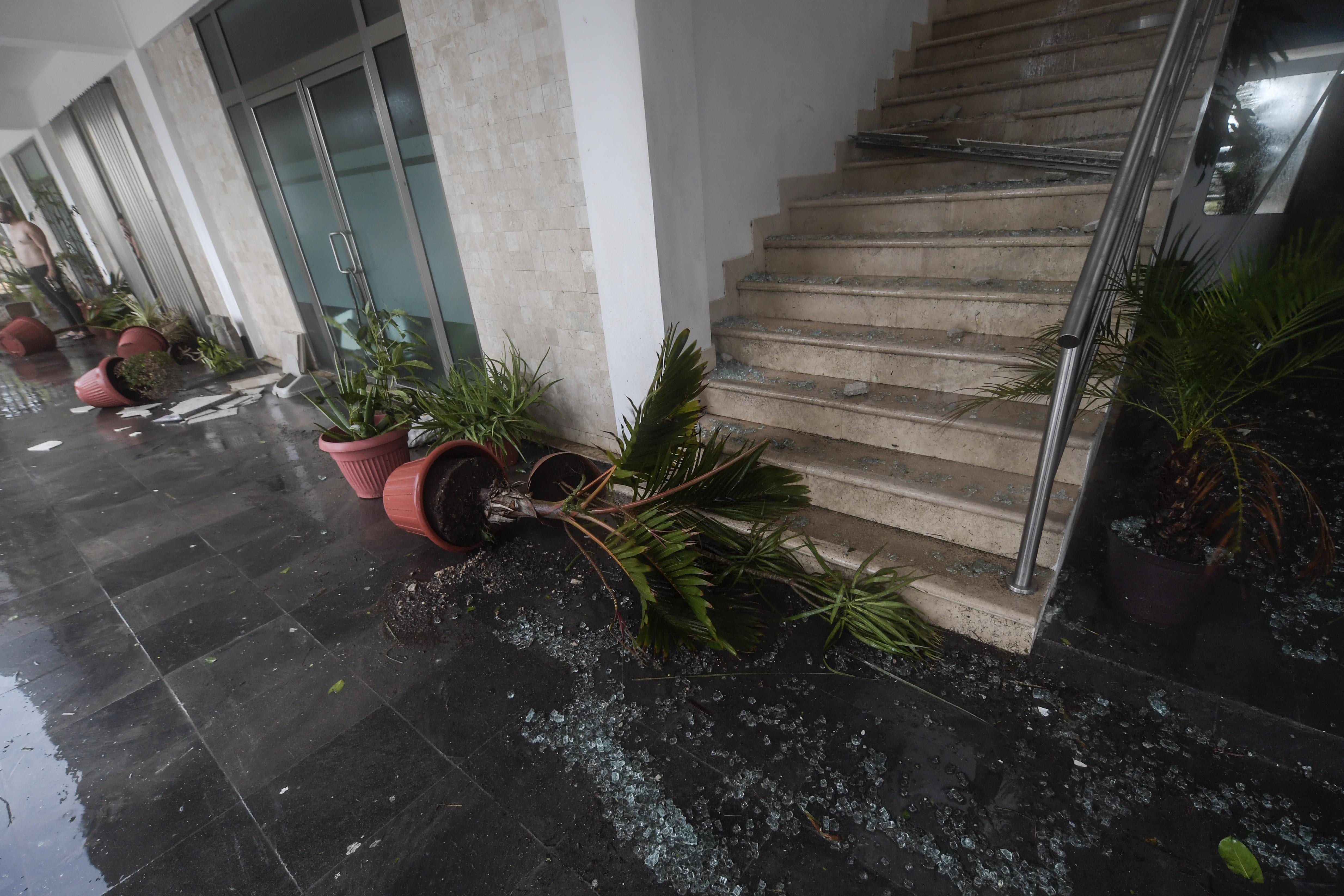 Vista de los daños causados por el huracán Delta, en Cancún, estado de Quintana Roo, México, el 7 de octubre de 2020.