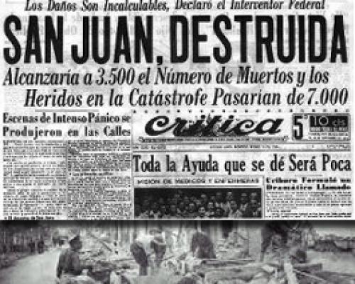 Terremoto de San Juan: una ciudad destruida, miles de muertos y el festival  solidario donde Perón conoció a Eva - Infobae