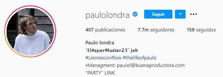Paulo Londra (Foto: Instagram)