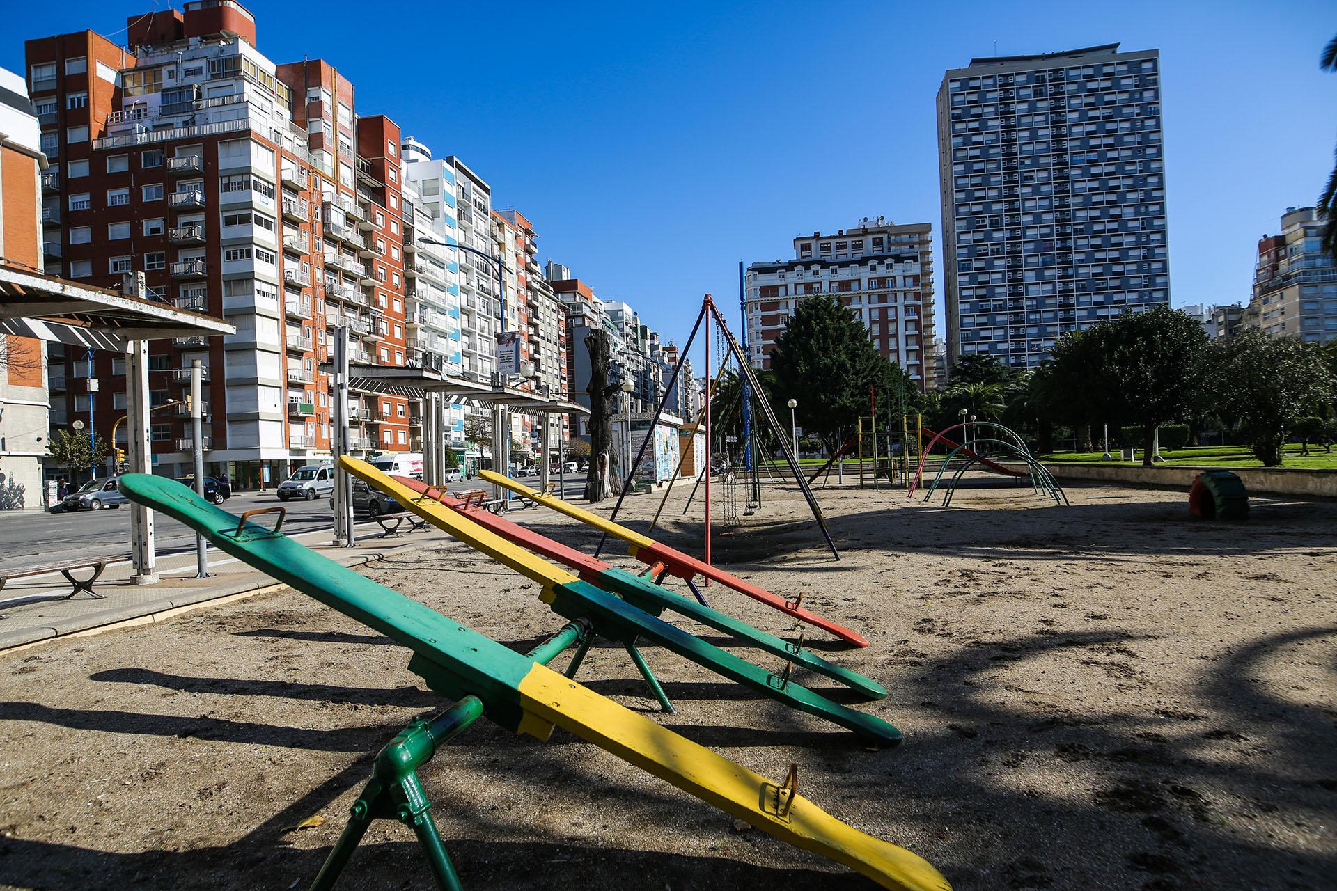 No hubo niños en las plazas de Mar del Plata (Christian Heit)