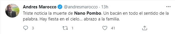 Foto: Twitter Andrés Marocco.
