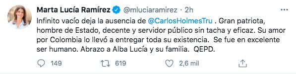 Trino de Marta Lucía Ramírez.