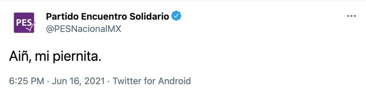 La persona que hackeó la cuenta, se dio tiempo de burlarse de la política provida (Foto: Twitter/PESNacionalMX)