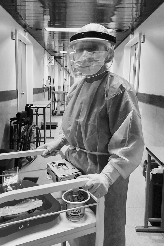 Monica Mantovani, enfermera del Hospital Muñiz