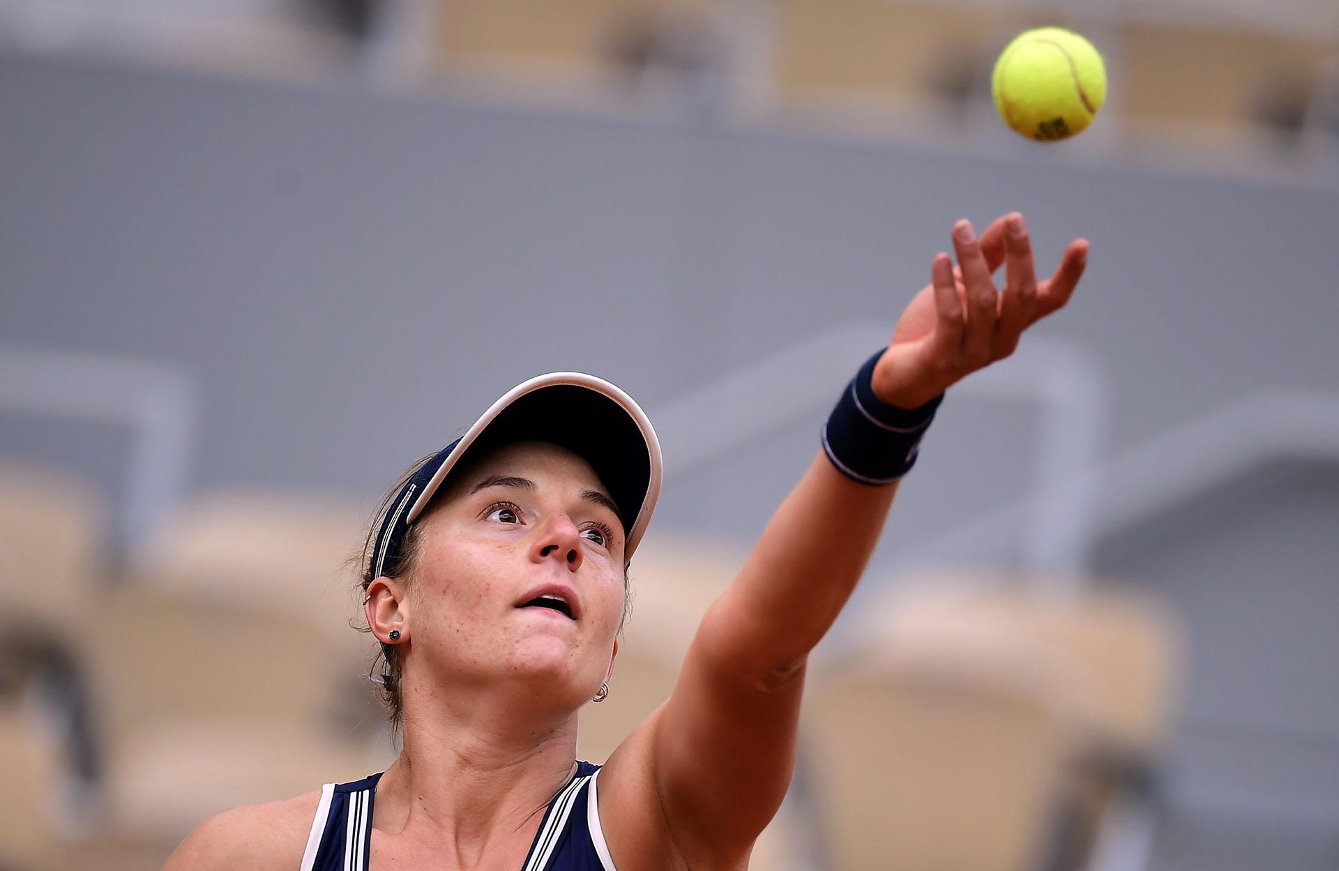Nadia Podoroska jugará el jueves por el pase a la final de Roland Garros (Tenis, Abierto, Francia, Ucrania) EFE/EPA/JULIEN DE ROSA