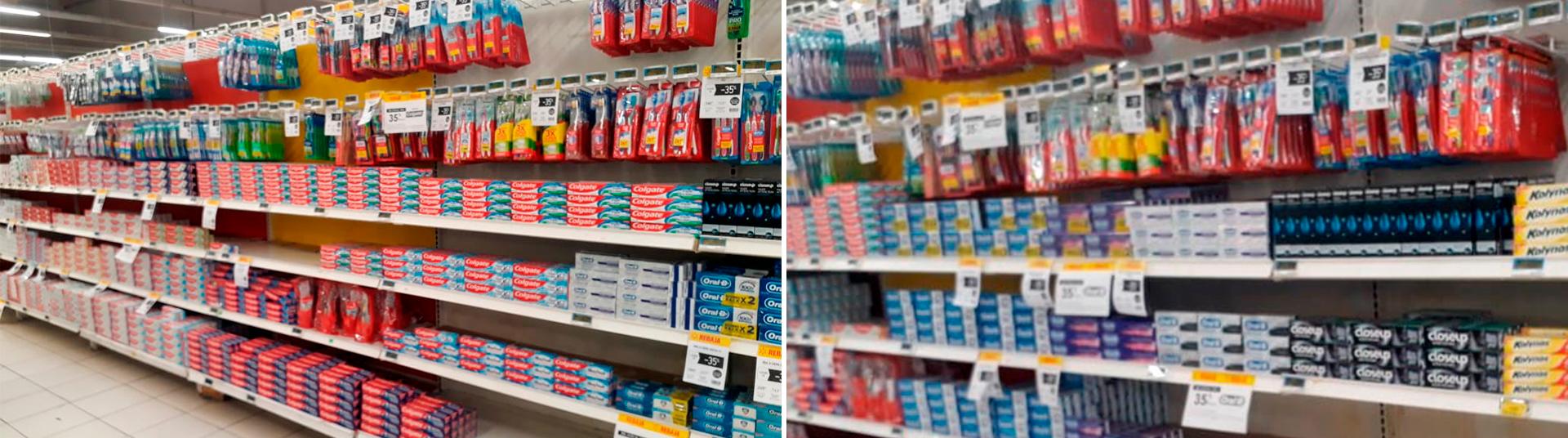 En la categoría de productos de higiene dental, se nota claramente cómo Colgate pierde espacio con la nueva Ley