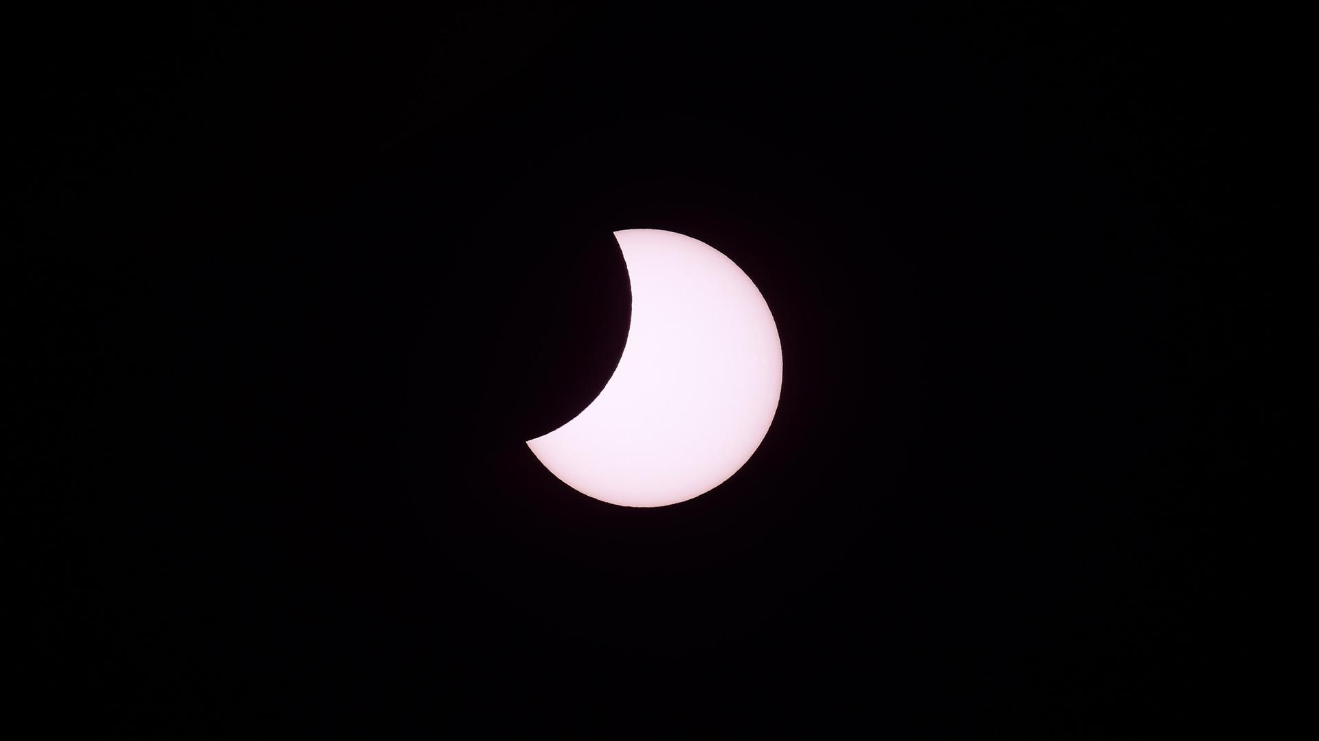 El eclipse se pudo ver desde otras provincias de la Argentina e incluso desde la Ciudad Autónoma de Buenos Aires