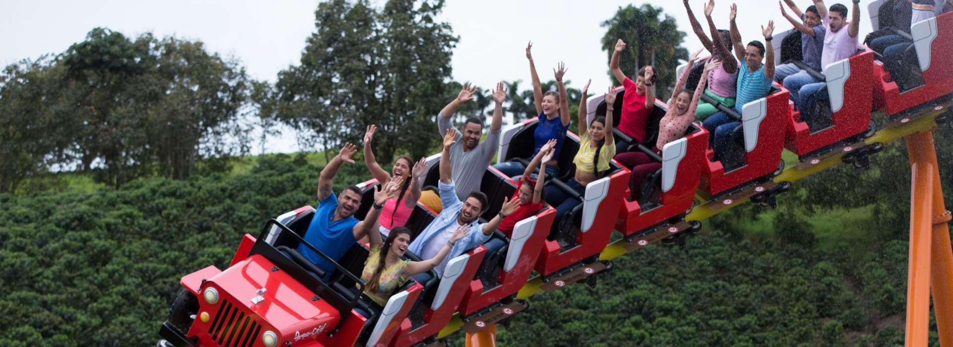 La montaña rusa de parque es una de las atracciones más populares del lugar. Foto: Cortesía del Parque del Café.