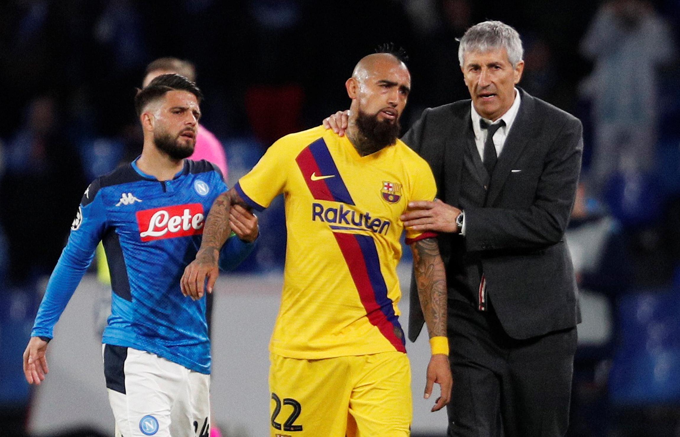 Arturo Vidal puso en duda el futuro de Quique Setién y de algunos jugadores  - Infobae