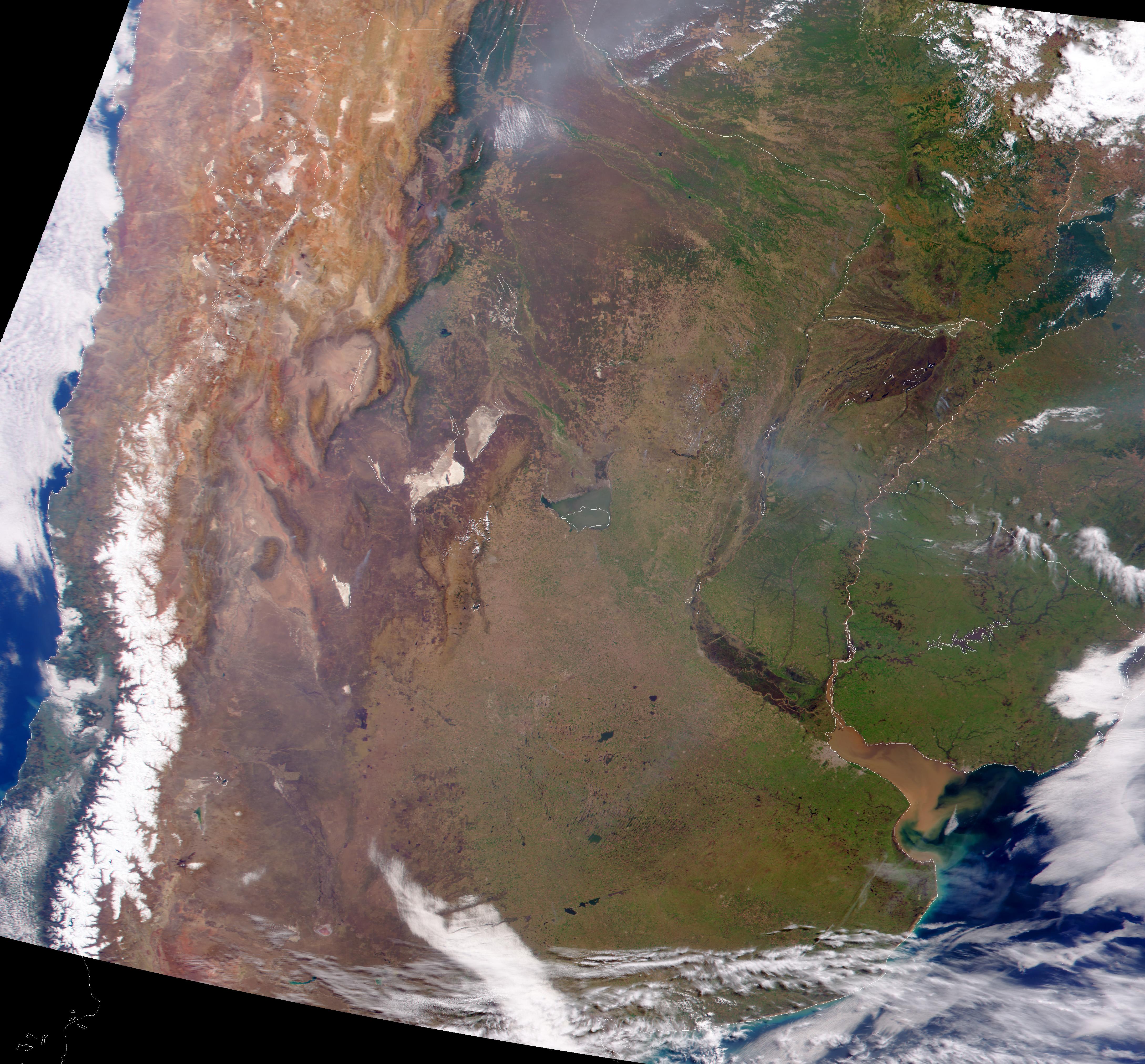 El centro y noreste de Argentina, el norte de Chile, Uruguay, Paraguay y el sur de Brasil