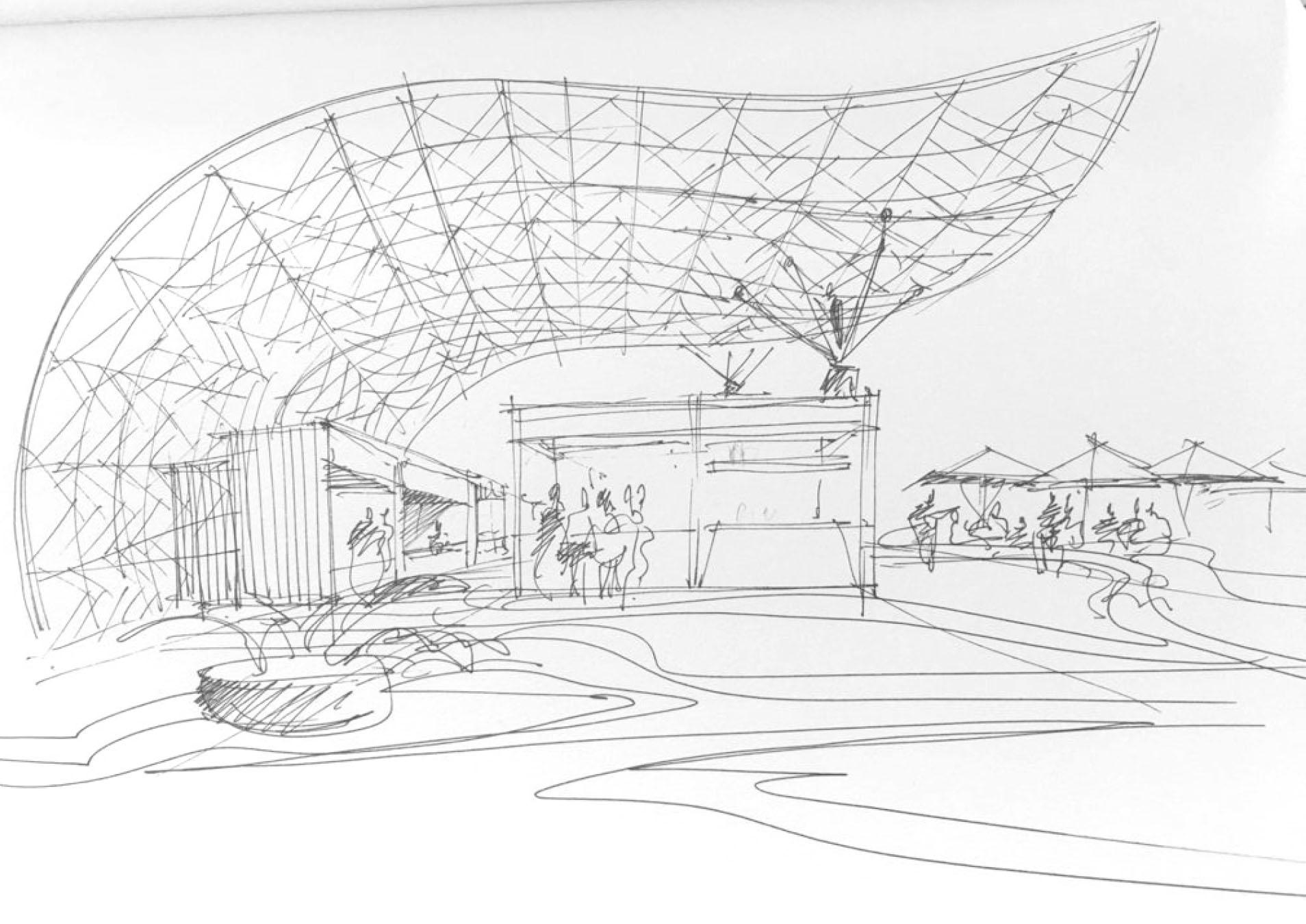 Bosquejo de lo que será el Mercado Fénix, inspirado en el tradicional Mercado San Miguel de Madrid