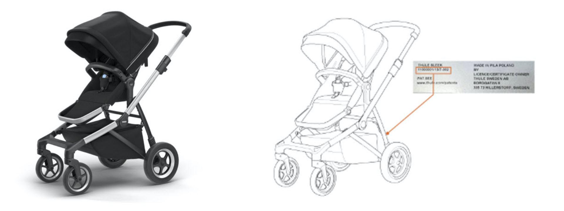 El manubrio de las carriolas defectuosas pueden desprenderse y ocasionar la caída de la niña o niño a bordo.    (Foto: thule.com)