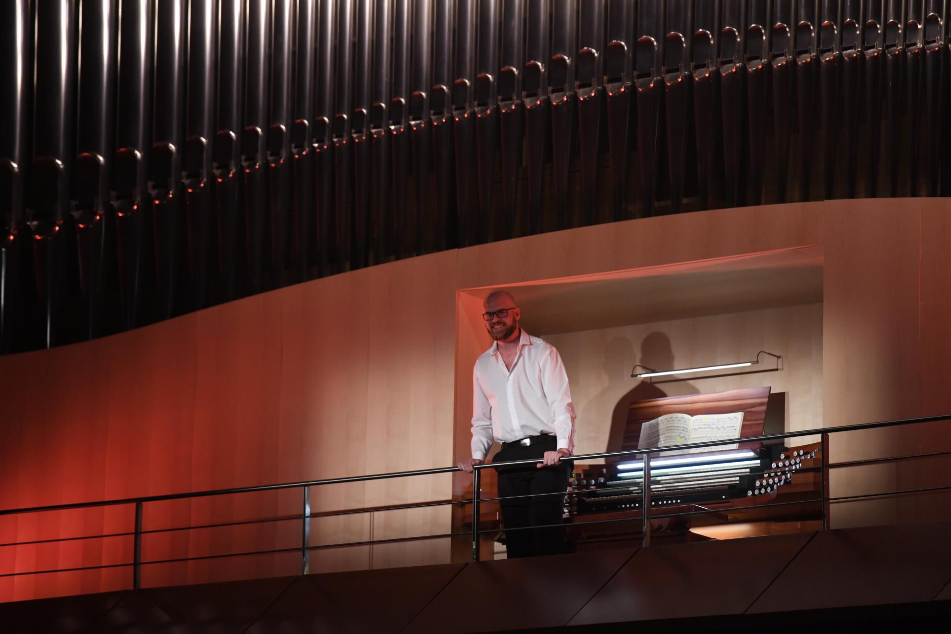 Del recital también participó el organista Matías Sagreras (Maximiliano Luna)